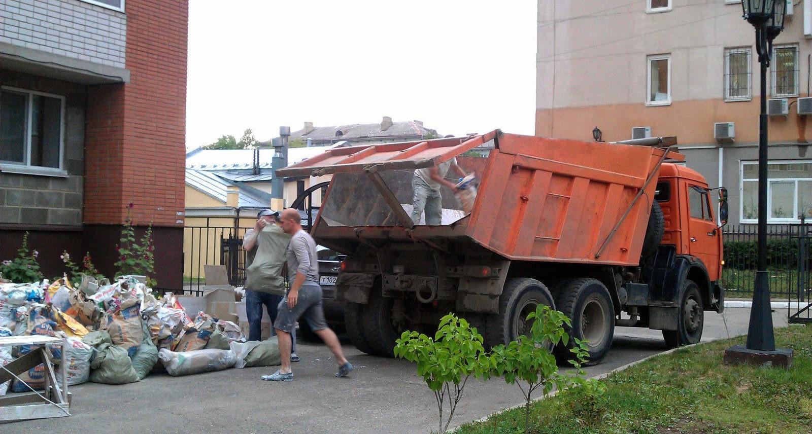 погрузка строительного мусора